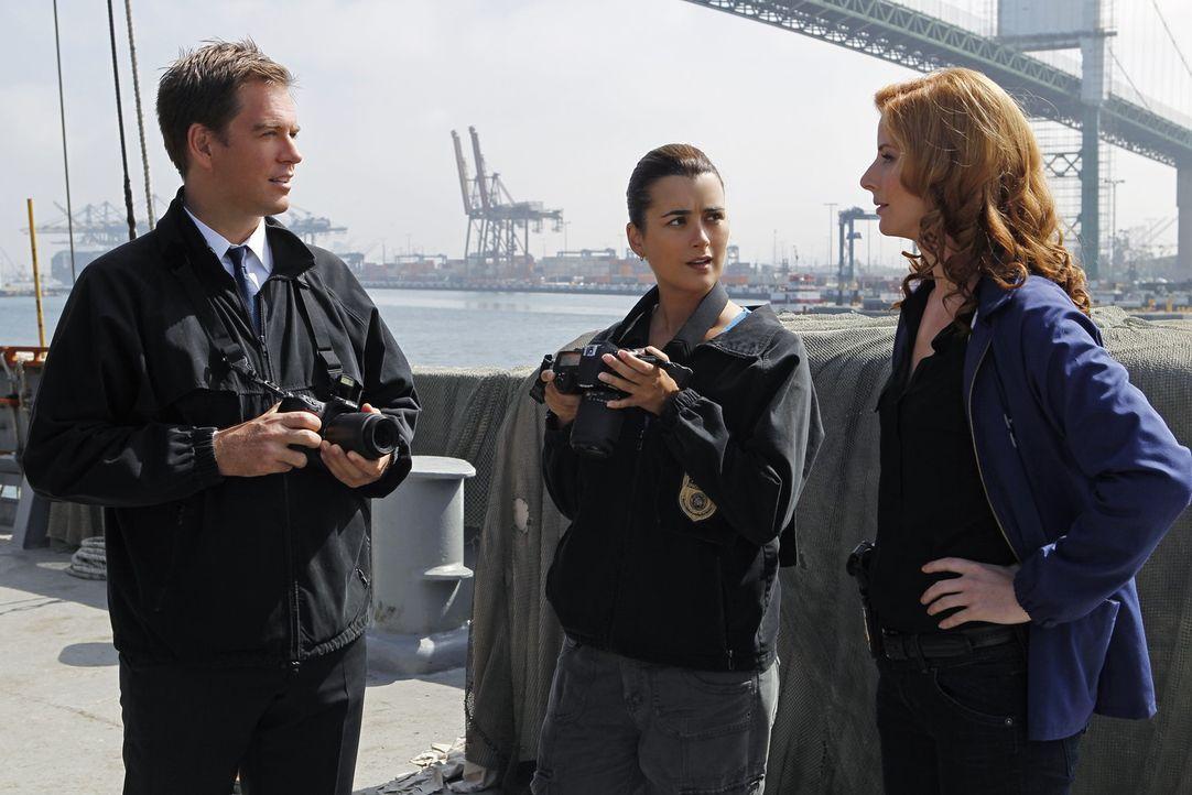 Ein Schiff ohne Passagiere und Besatzung wird von der Küstenwache in US-Gewässern aufgefunden. DiNozzo (Michael Weatherly, l.), Ziva (Cote de Pabl... - Bildquelle: CBS Television