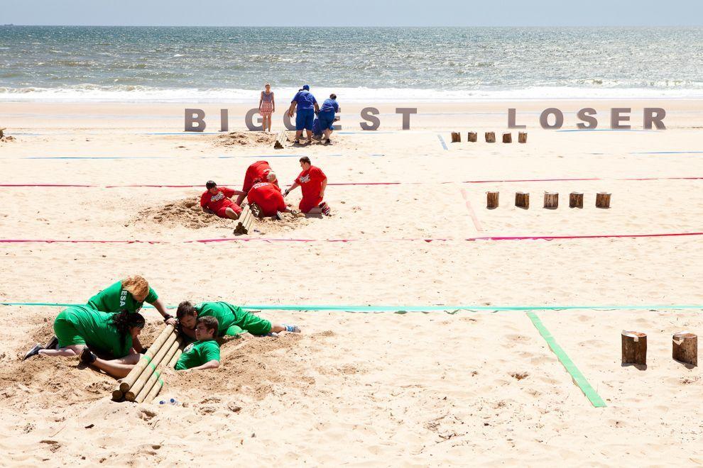 Erste Challenge am Strand
