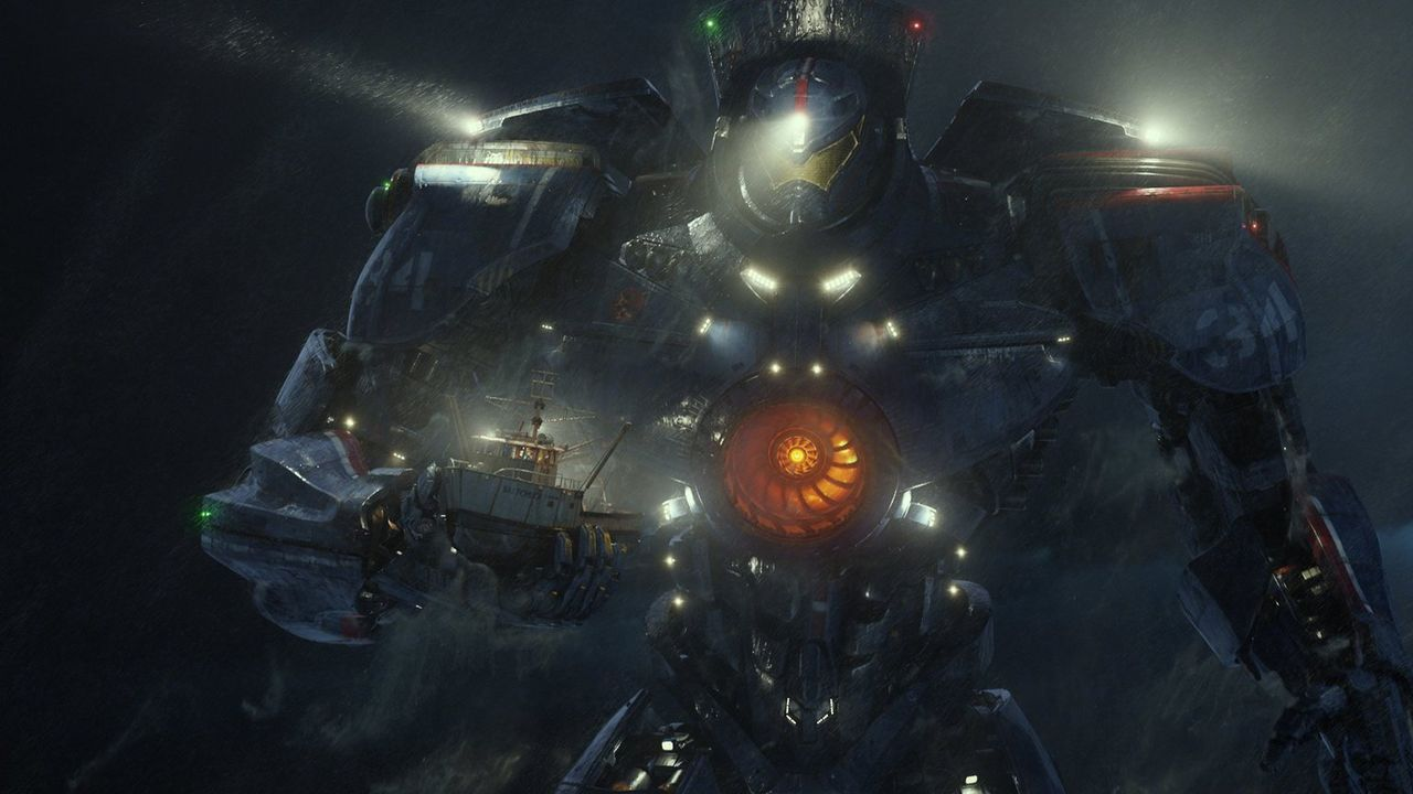 """Im Kampf gegen außerirdische Monster werden """"Jaeger"""", humanoide Kampfroboter, eingesetzt. Dabei sitzen zwei Piloten im Kopf des riesigen Roboters un... - Bildquelle: 2013 Warner Bros. Entertainment Inc. and Legendary Pictures Funding, LLC"""
