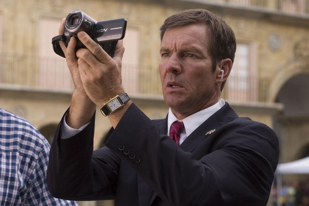 Als der US-Präsident bei einem Gipfeltreffen im spanischen Salamanca angeschossen wird und eine Bombenexplosion zahlreiche Menschen tötet, rekonst... - Bildquelle: 2008 Columbia Pictures Industries, Inc. and GH Three LLC. All Rights Reserved.