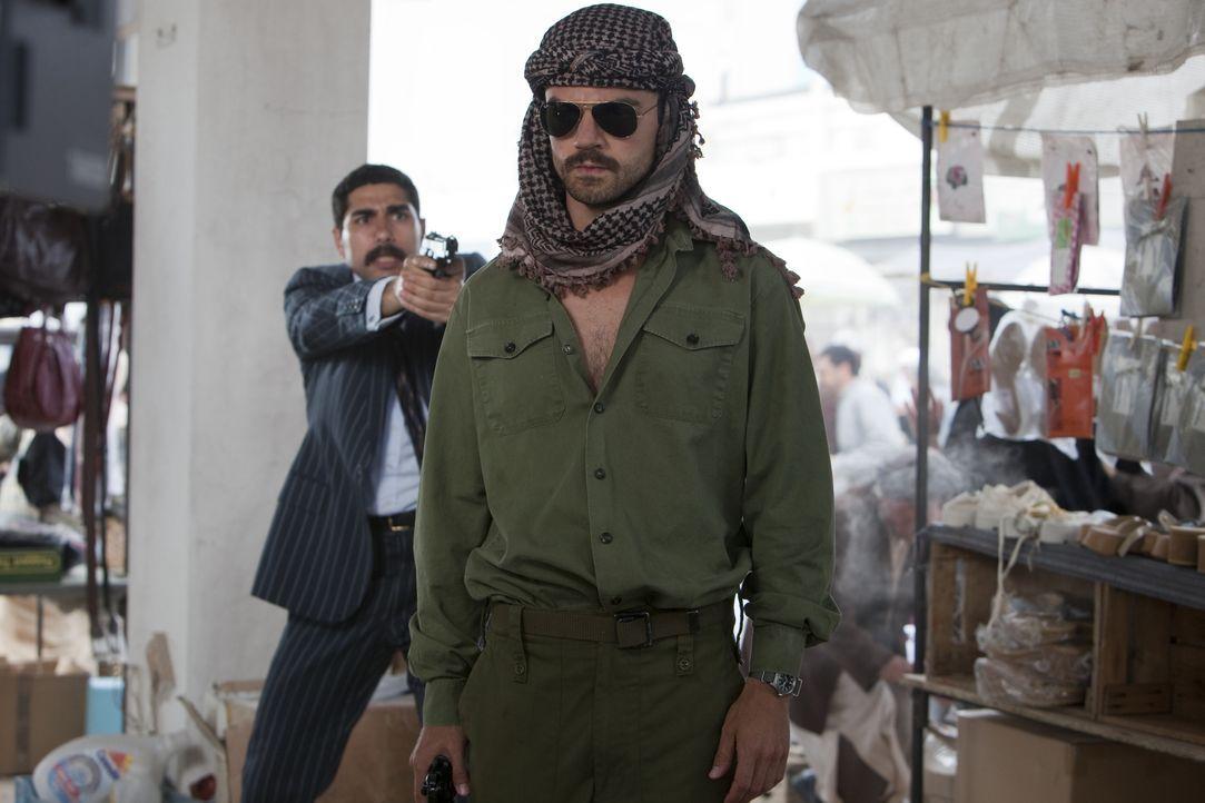 Der irakische Soldat Latif Yahia (Dominic Cooper) wird 1987 aufgrund einer frappierenden Ähnlichkeit gezwungen, das Double von Saddam Husseins Sohn... - Bildquelle: 2013, Falcom Media