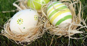 Für jedes Ei ein Nest aus Stroh – sieht hübsch aus und ist praktisch, wenn Si...