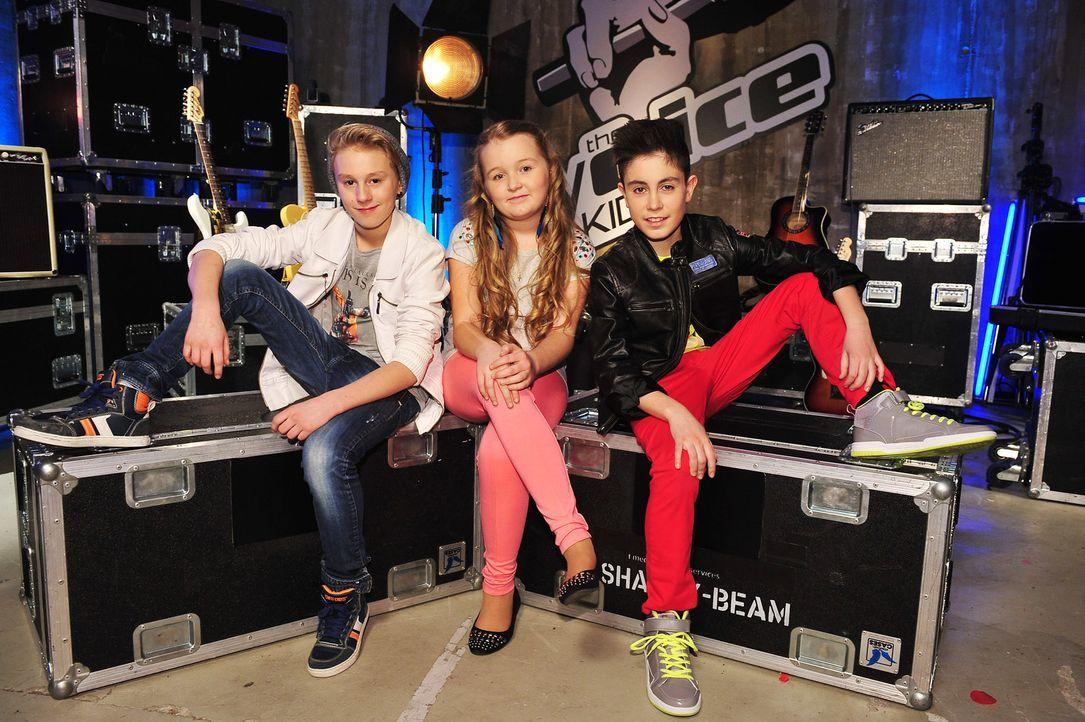 The-Voice-Kids-Stf02-Epi07-Vanessa-Joel-Leif-14-SAT1-Andre-Kowalski - Bildquelle: SAT.1/Andre Kowalski