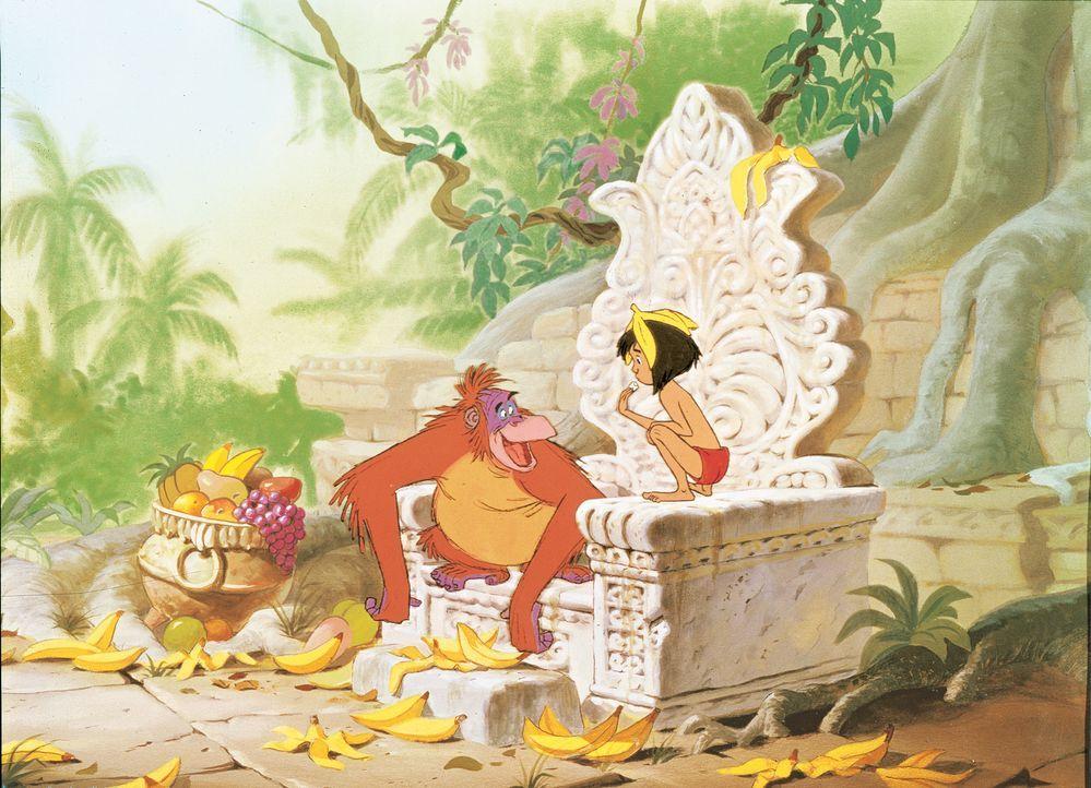 Der Affenkönig Louie hofft, von Mogli wichtige Informationen über die Menschen erfahren zu können ... - Bildquelle: Disney Enterprises, Inc.  All rights reserved