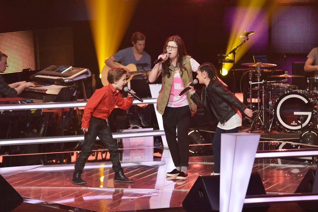 The-Voice-Kids-Stf03-Epi05-51-Nestor-Angelina-Jorena-SAT1-Andre-Kowalski - Bildquelle: SAT.1/ Andre Kowalski