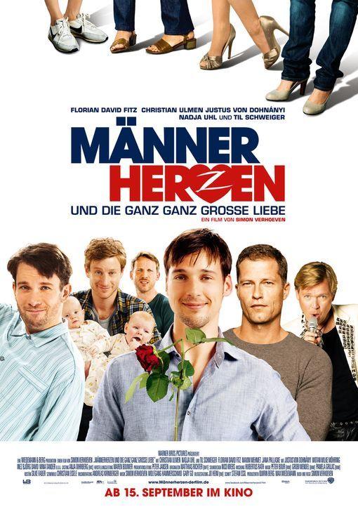 MÄNNERHERZEN... UND DIE GANZ GANZ GROSSE LIEBE - Plakatmotiv - Bildquelle: Warner Bros.