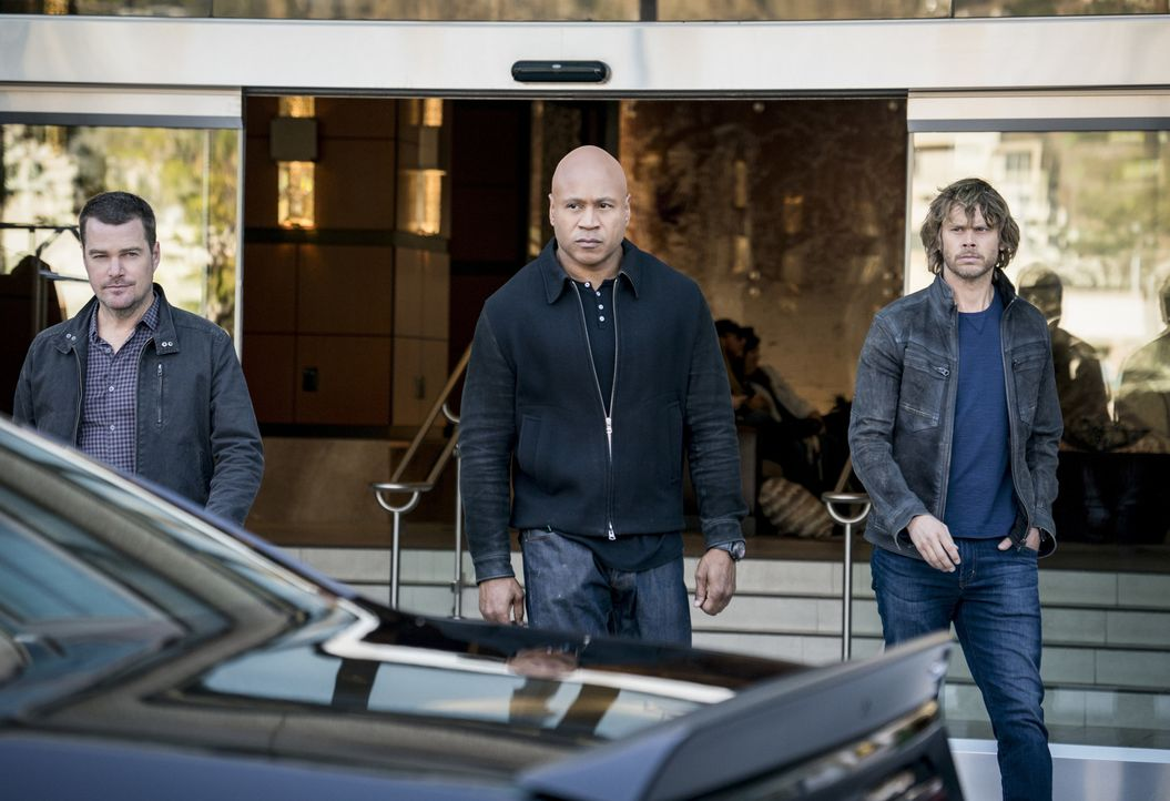 (v.l.n.r.) G. Callen (Chris O'Donnell); Sam Hanna (LL Cool J); Marty Deeks (Eric Christian Olsen) - Bildquelle: Ali Goldstein 2018 CBS Broadcasting, Inc. All Rights Reserved/Ali Goldstein