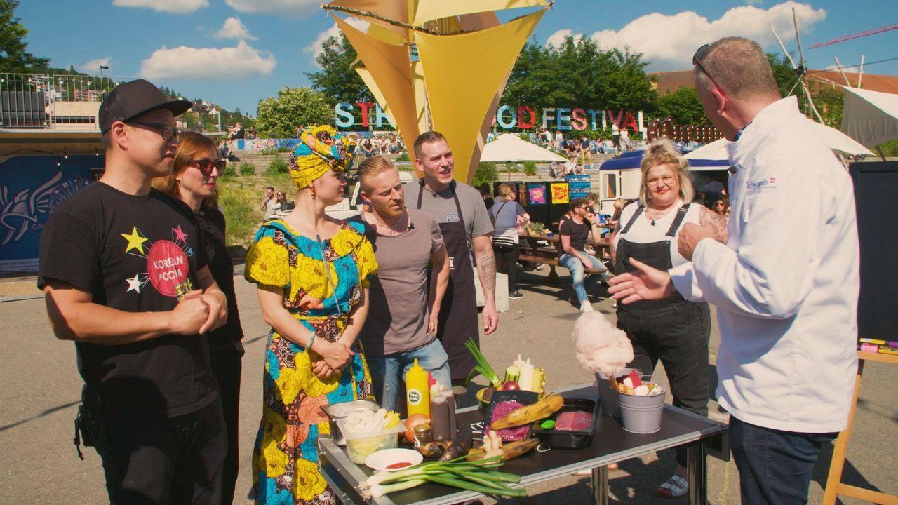 Torsten Götz lässt sich am Streetfoodfestival in Zürich von den verschiedens... - Bildquelle: SAT.1 CH