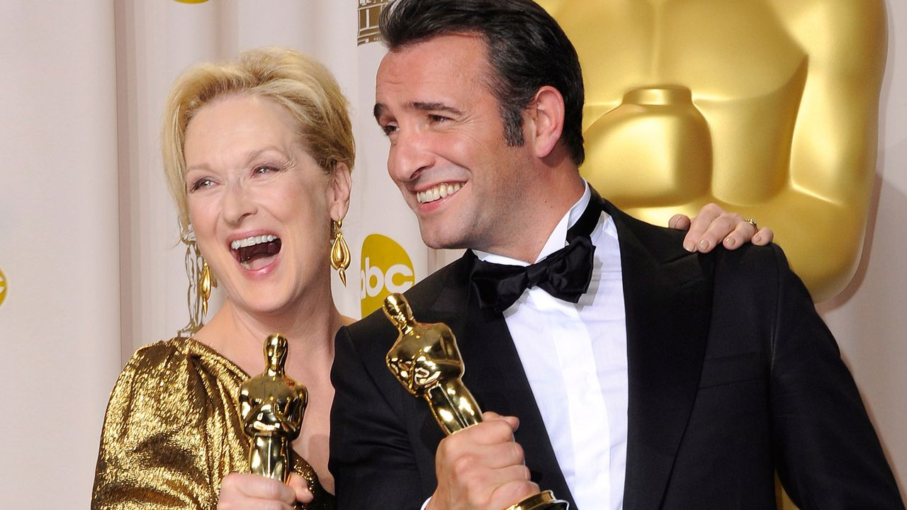 Meryl-Streep-Jean-Dujardin-12-02-26-dpa - Bildquelle: dpa