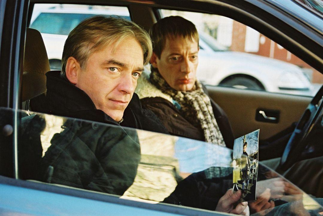 Jo (Christoph M. Ohrt, l.) und Horst (Luc Feit, r.) beobachten Azzurro. - Bildquelle: Hardy Spitz Sat.1