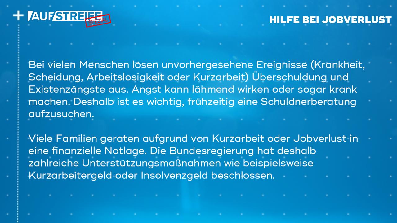 F1449_M3_Hilfe Jobverlust - Bildquelle: SAT.1
