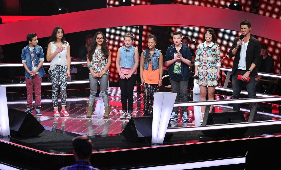 The-Voice-Kids-Stf02-Epi06-Selin-Lara-Patrizia-Naomi-Richard-Stepan-141-SAT1-Andre-Kowalski - Bildquelle: SAT.1/Andre Kowalski