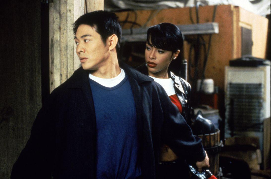 Kaum in den USA angekommen, läuft dem rachedurstigen Han (Jet Li, l.) die hübsche Trish (Aaliyah, r.) über den Weg, die die Tochter des Oberhauptes... - Bildquelle: Warner Bros. Pictures