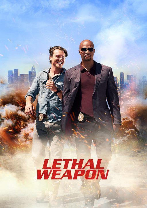 (1. Staffel) - Gehen gemeinsam auf Verbrecherjagd: Martin Riggs (Clayne Crawford, l.) und Roger Murtaugh (Damon Wayans, r.) ... - Bildquelle: 2016 Warner Brothers
