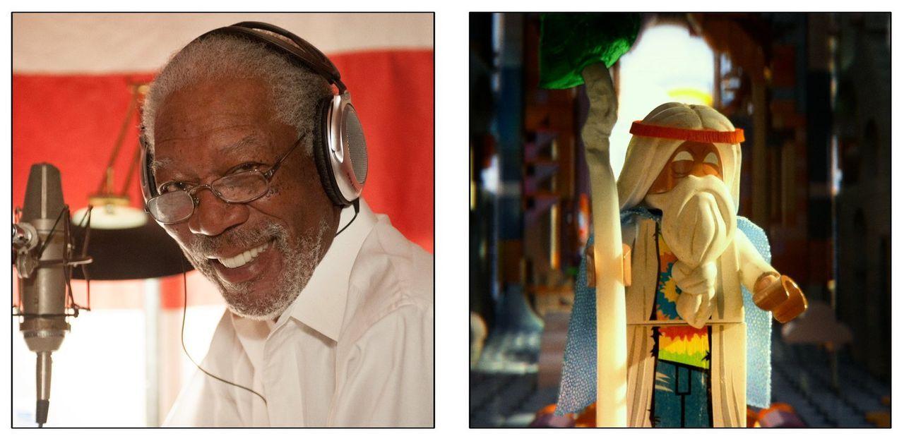 Der alte Mystiker Vitruvius wird im Original von Morgan Freeman gesprochen ... - Bildquelle: 2014 Warner Brothers