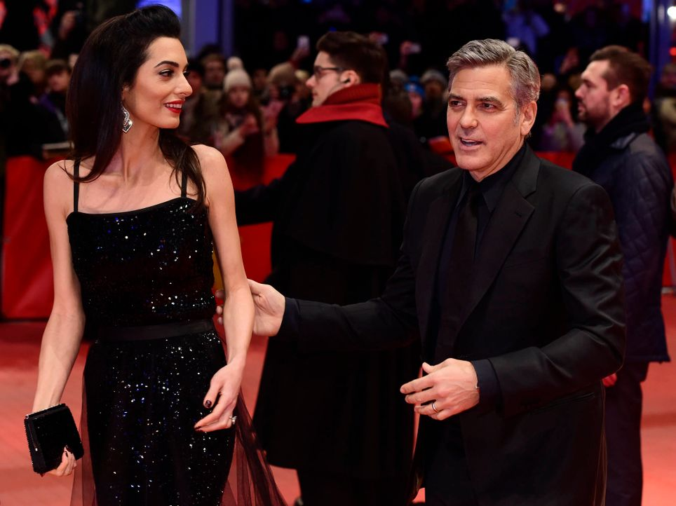 Berlinale-George-Clooney-Amal-Alamuddin-160211-AFP - Bildquelle: AFP