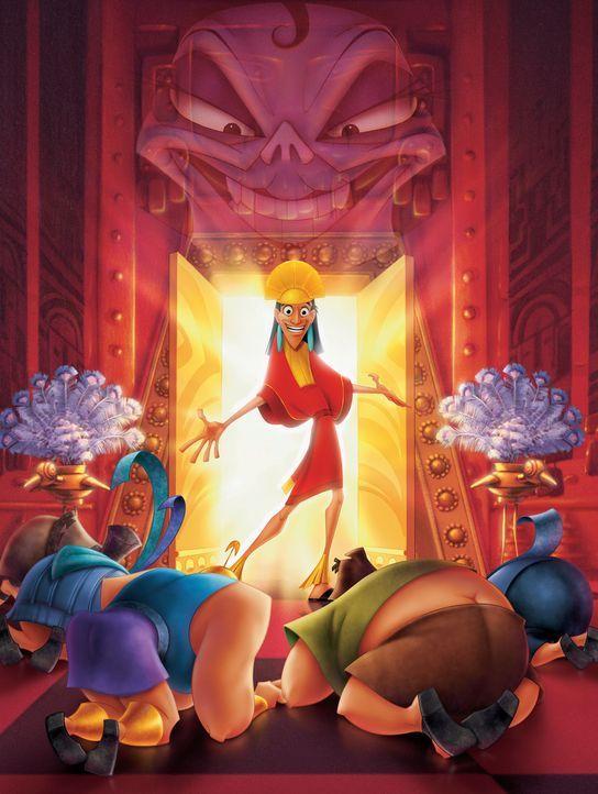 Der junge König Kuzco (M.) hat sein Gefolge im Griff und alles tanz nach seiner Pfeife ... - Bildquelle: Disney Enterprises Inc.