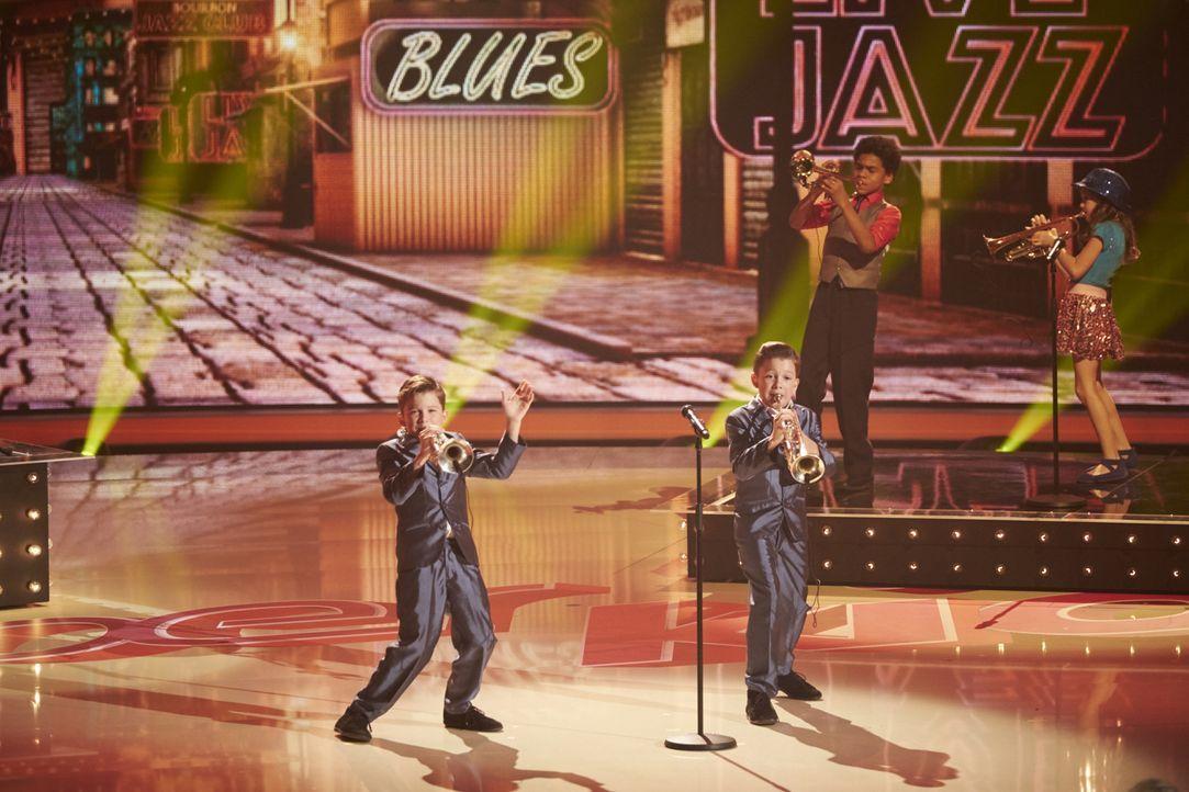 """Die """"Pelican212"""" aus Nashville, USA, zeigen mit ihrer Brassband was sie können. Doch wird es für den Sieg reichen? - Bildquelle: Stefan Hobmaier SAT.1"""