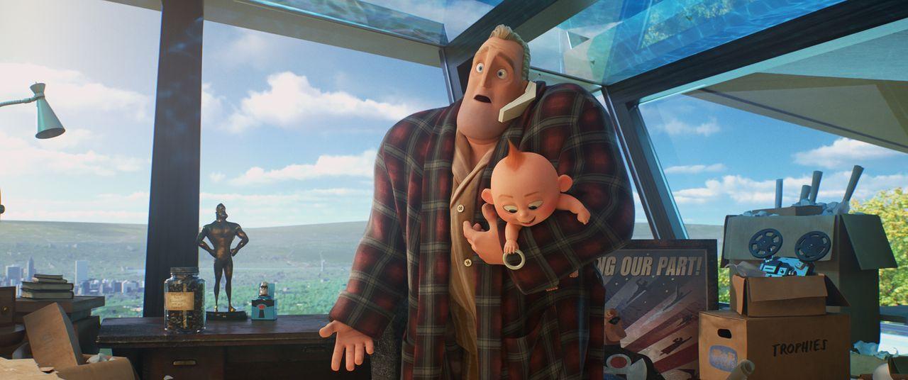 Bob Parr/Mr. Incredible (l.); Jack-Jack Parr (r.) - Bildquelle: 2018 Disney/Pixar. All Rights Reserved.