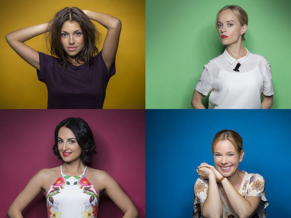 (von links oben nach rechts unten) Anna Julia Antonucci; Friederike Kempter; Mimi Fiedler; Milena Dreißig - Bildquelle: Frank Zauritz SAT.1 / Frank Zauritz
