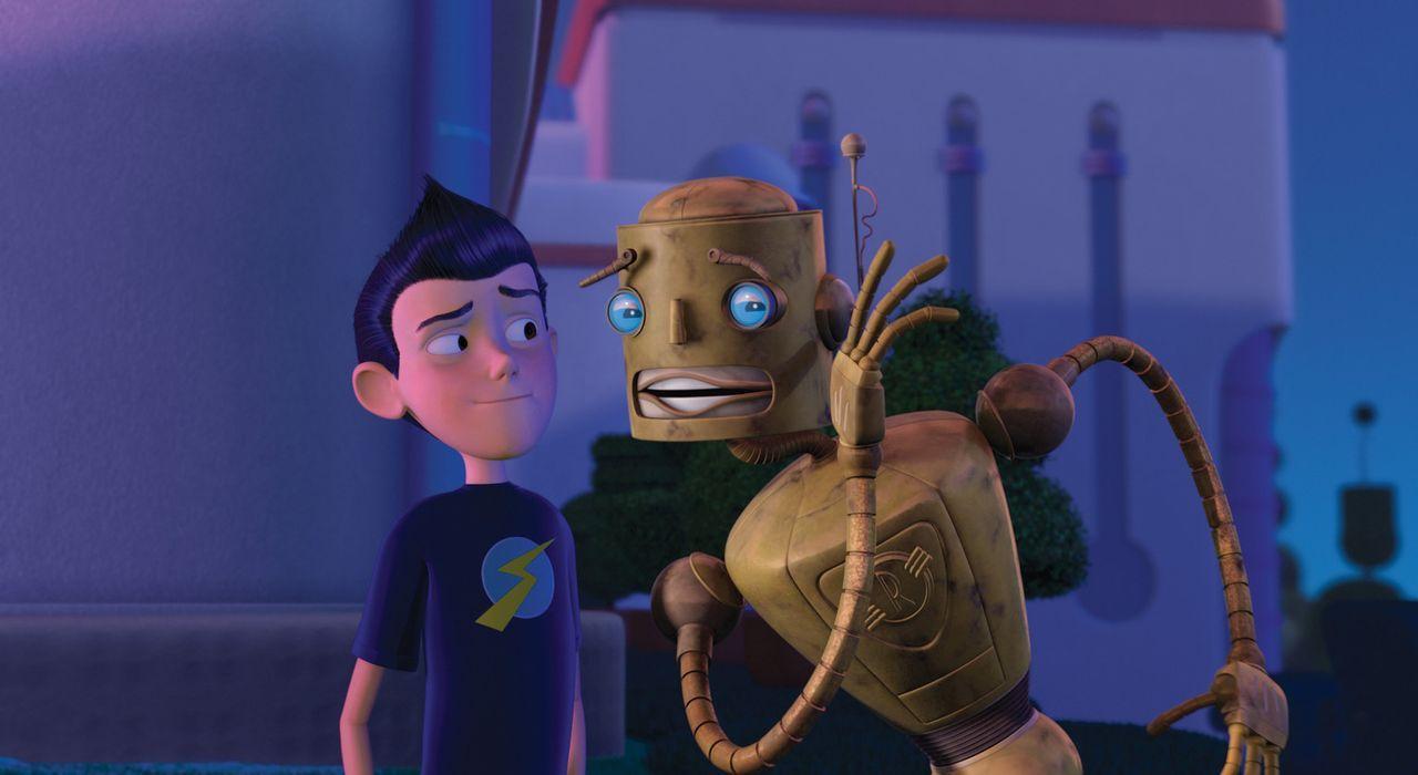 Carl (r.), der gutmütige Roboter der Familie Robinson, ist von Wilburs (l.) Plan alles andere als begeistert ... - Bildquelle: Disney Enterprises, Inc. All rights reserved