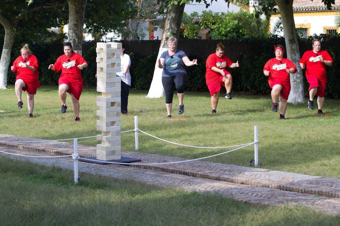 Mit vielen Sporteinheiten und guter Ernährung schlank werden, ist die Devise des Camps ... - Bildquelle: Enrique Cano SAT.1