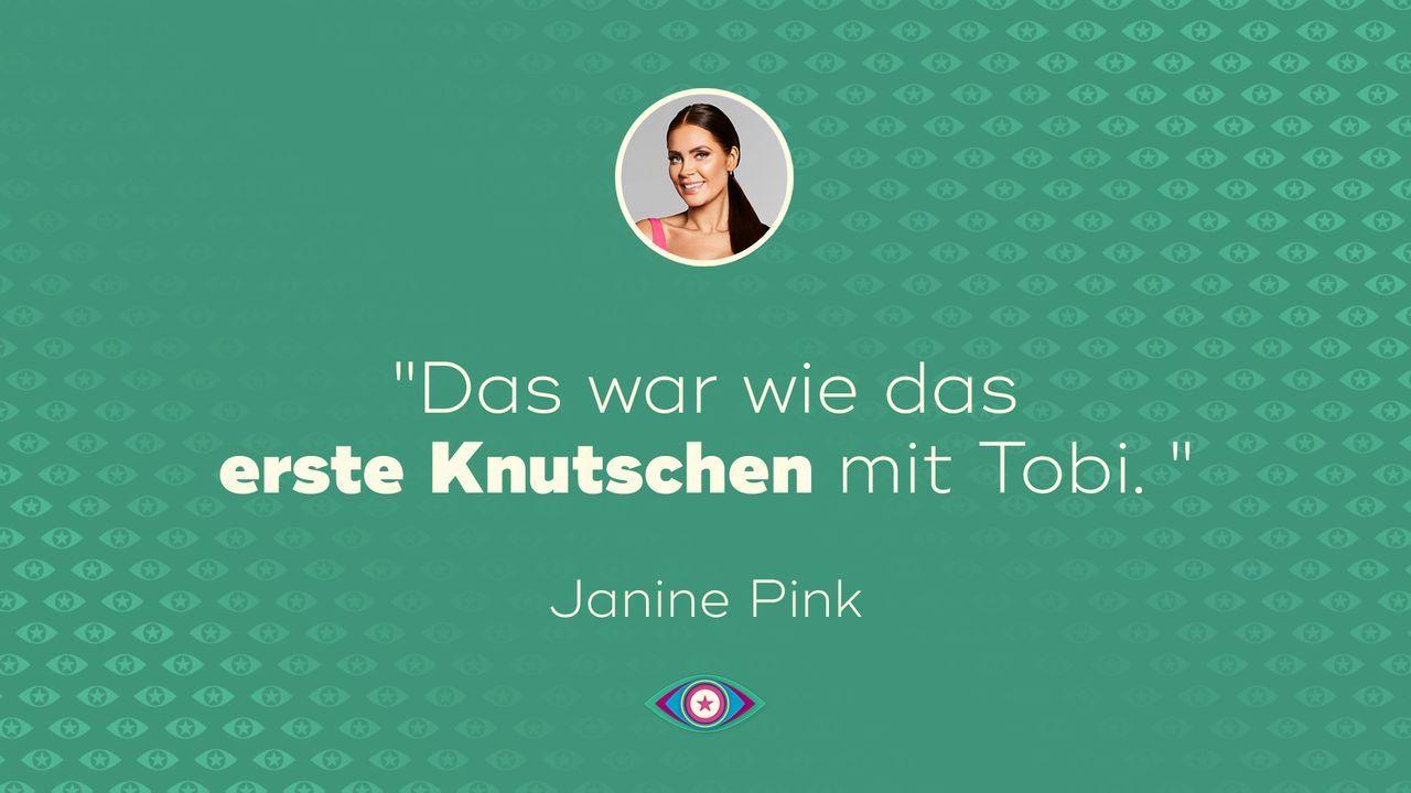 Tag 10 - Janine Tobi erster Kuss - Bildquelle: SAT.1