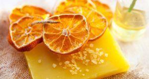 Eine wunderbare Kombi mit betörendem Duft: Orangen-Seife.