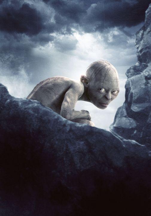 Gollum (Andy Serkis) führt die beiden Hobbits in die Nähe des Schicksalsbergs, um dort seinen hinterhältigen Plan zu Ende zu bringen ... - Bildquelle: Warner Bros.