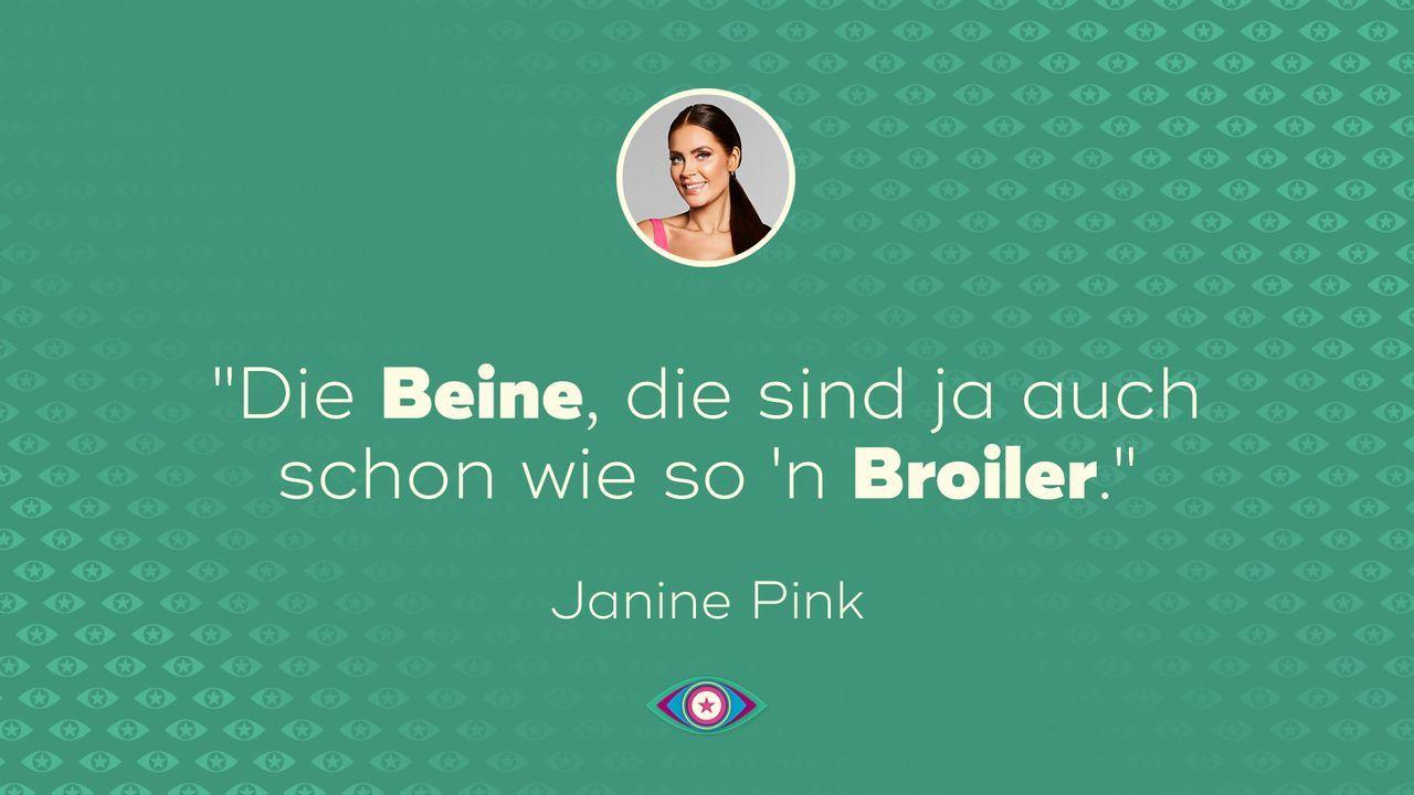 Tag 1: Janine Pink - Broiler - Bildquelle: SAT.1