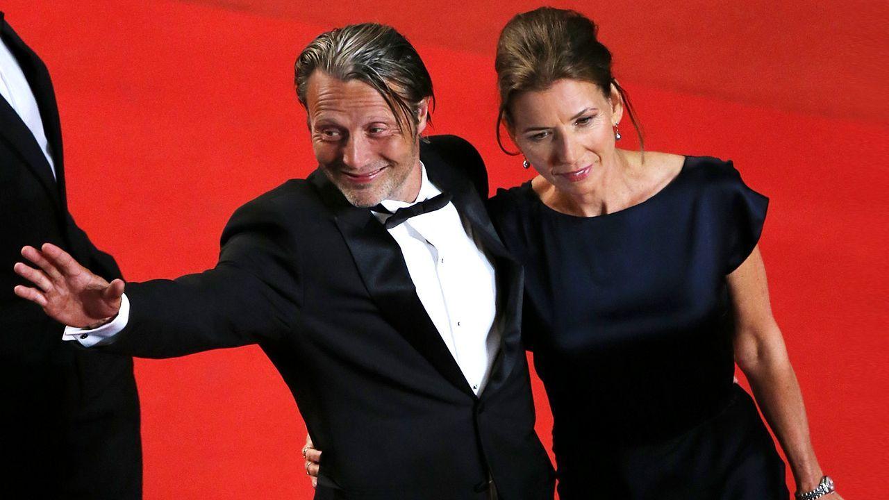 Mads-Mikkelsen-Hanne-Jakobsen-13-05-24-1-AFP - Bildquelle: AFP