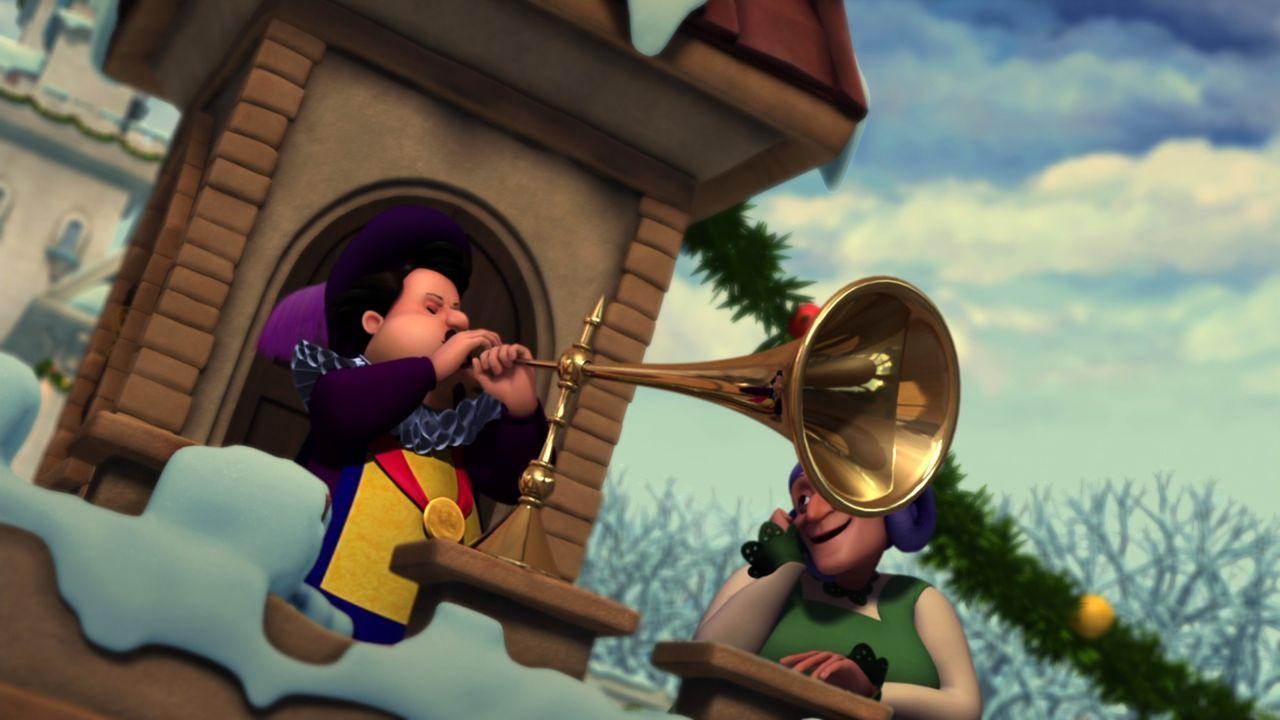 Weihnachten steht vor der Tür, und der Trompeter auf dem Schlossturm kündigt mit einer herrlichen Fanfare an, dass die Kutsche von Derek und Odette... - Bildquelle: 2012 Swan IV LLC. All Rights Reserved.