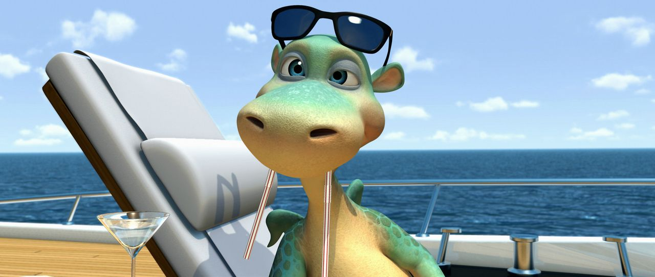Der gerissene Geschäftsmann Barnaby sucht auf Titiwu für seinen neuen Vergnügungspark einen echten Dinosaurier, und so verlässt Urmel auf der Su... - Bildquelle: Constantin Film