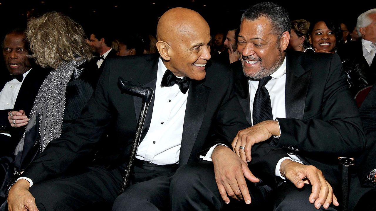 Harry-Belafonte_Laurence-Fishburne-2012-2-17-getty-AFP - Bildquelle: getty AFP