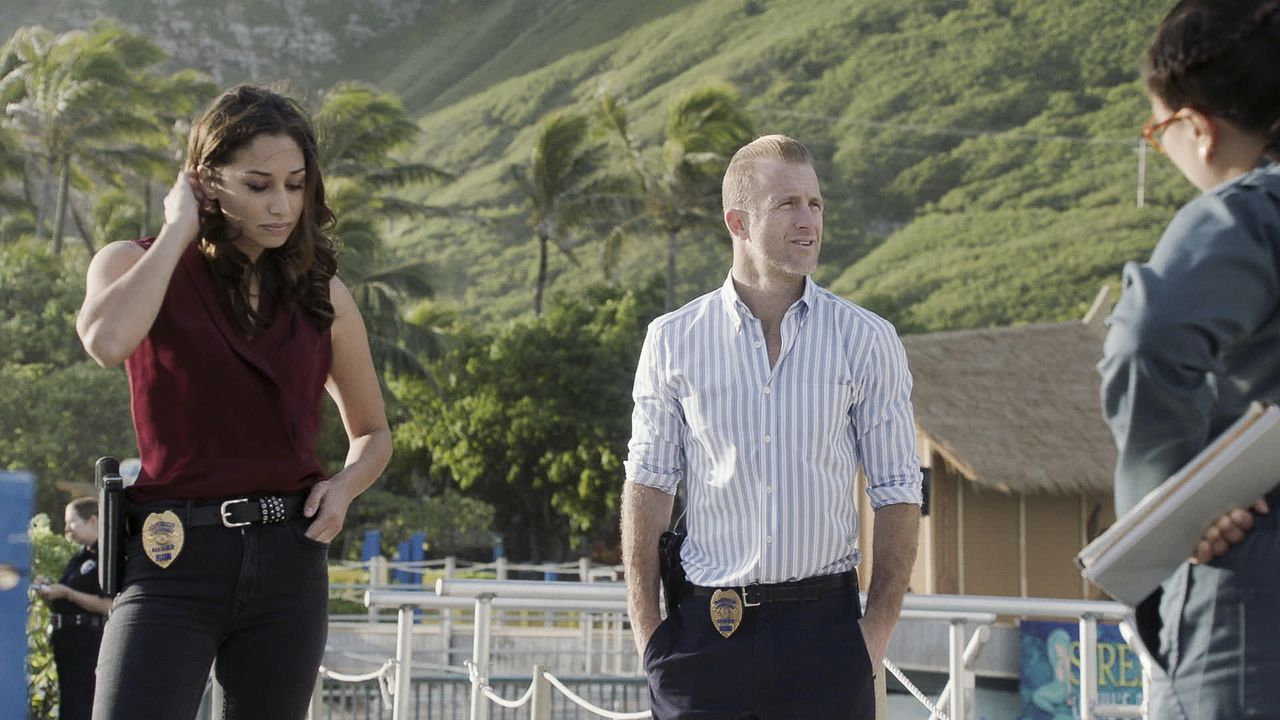 Tani Rey (Meaghan Rath, l.); Danny Williams (Scott Caan, r.) - Bildquelle: 2019 CBS Broadcasting, Inc. All Rights Reserved