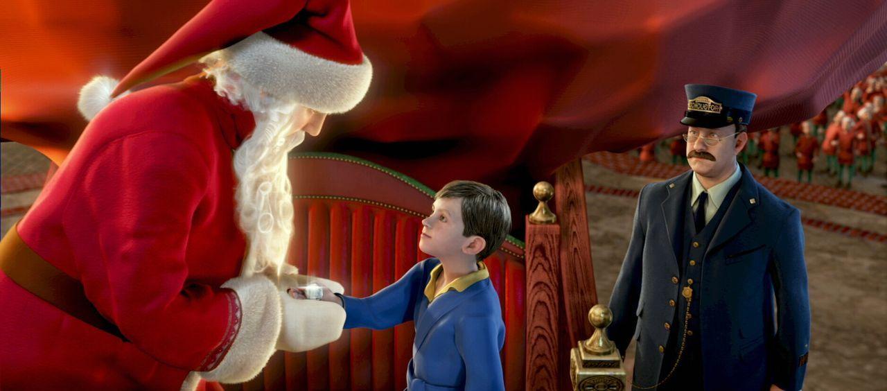 Das hätte der kleine Junge (M.) nicht gedacht - er steht tatsächlich dem echten Weihnachtsmann (l.) gegenüber ... - Bildquelle: Warner Bros. Pictures