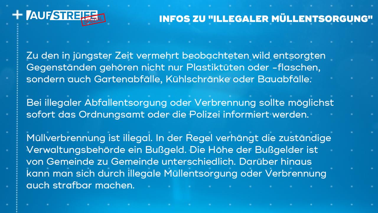 F1450_M2_Infos Illegale Müllents - Bildquelle: SAT.1