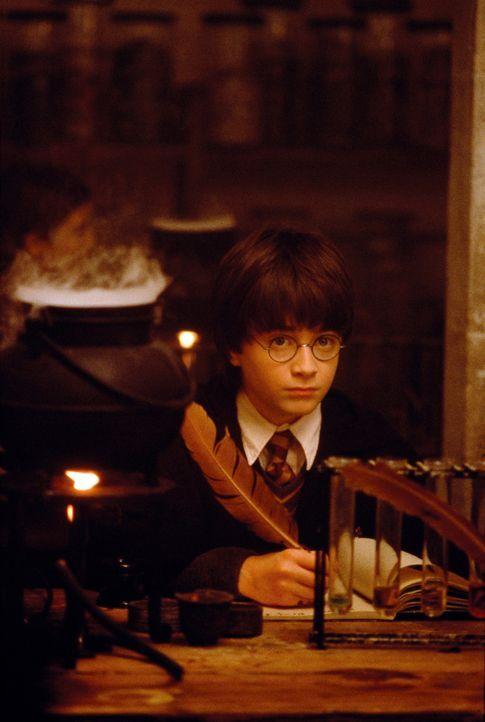 Nach dem Tod der Eltern lebt Harry Potter (Daniel Radcliffe) bei seinem bösartigen Onkel. Der Junge weiß nicht, dass seine Eltern Zauberer waren und... - Bildquelle: Warner Bros. Pictures