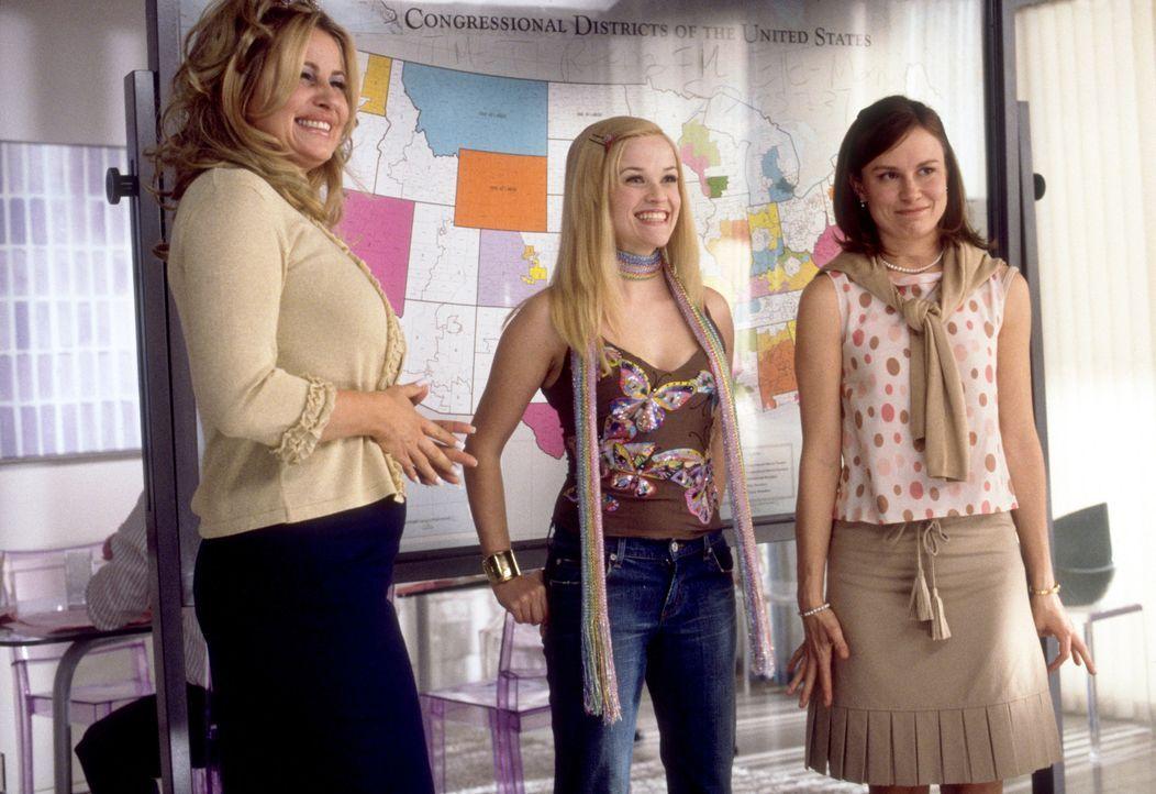 Um den Gesetzesvorschlag vom Kongress prüfen zu lassen, müssen sich (v.l.n.r.) Paulette (Jennifer Coolidge), Elle (Reese Witherspoon) und Reena (Mar... - Bildquelle: Metro-Goldwyn-Mayer (MGM)