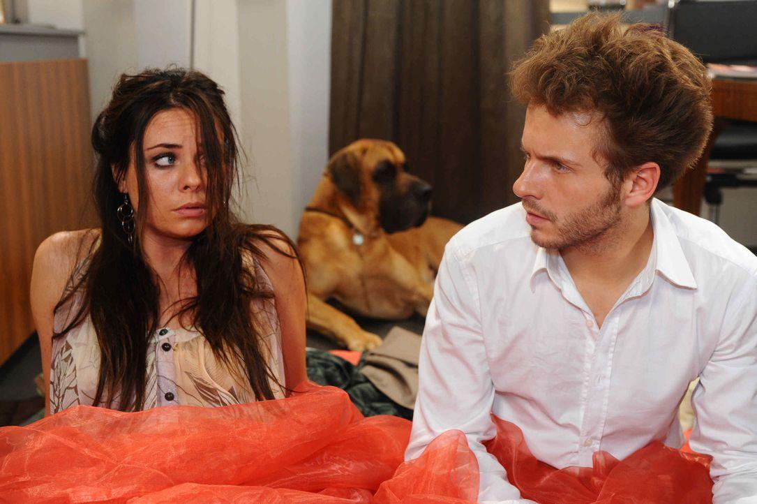 Müssen feststellen, dass sie über die Stränge geschlagen haben: Paloma (Maja Maneiro, l.) und Enrique (Jacob Weigert, r.) ... - Bildquelle: SAT.1