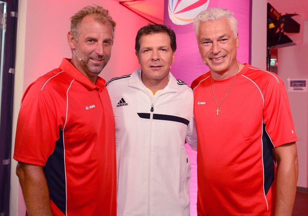 """Thomas Muster (l.), Andreas Möller (M.) und Toni Polster (r.) in """"Deutschland gegen Österreich - Die Revanche"""" ... - Bildquelle: Willi Weber SAT.1"""