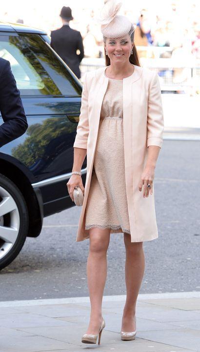 Die schwangere Kate Middleton - Bildquelle: +++(c) dpa - Bildfunk+++ Verwendung nur in Deutschland