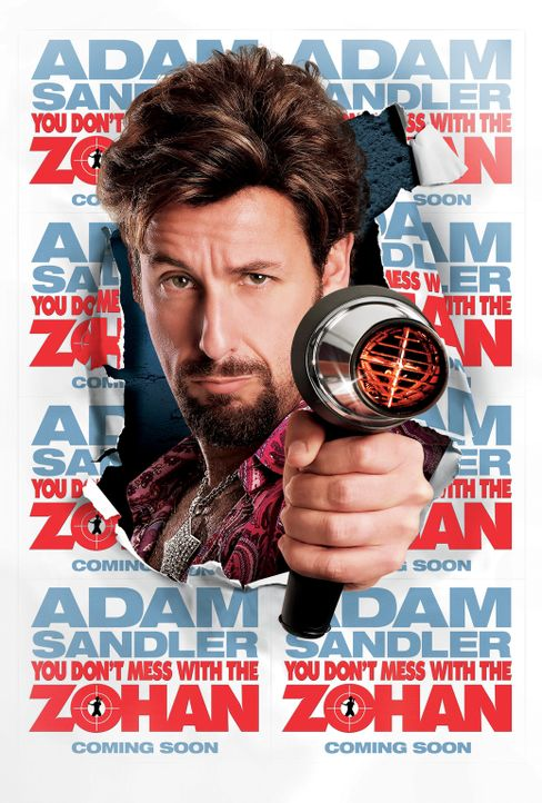 LEG DICH NICHT MIT ZOHAN AN - Plakatmotiv - mit Adam Sandler - Bildquelle: 2008 Columbia Pictures Industries, Inc. and Beverly Blvd LLC. All Rights Reserved.