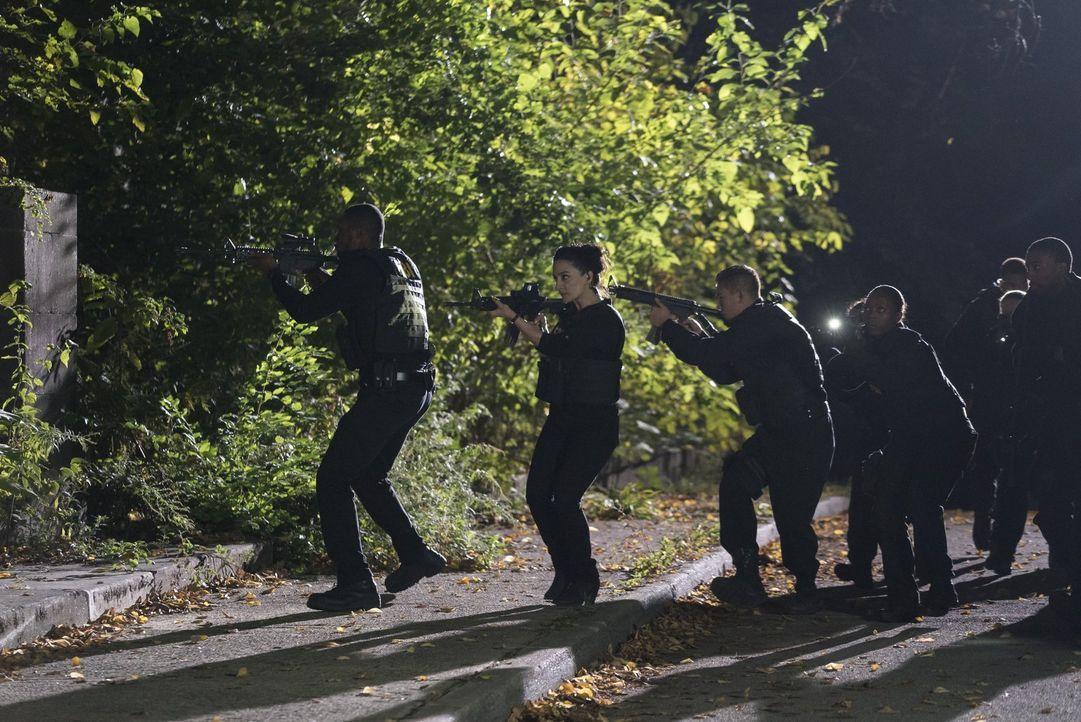 Während Nas (Archie Panjabi, 2.v.l.), Reade (Rob Brown, l.) und andere Agenten das Hauptquartier von Sandstorm stürmen, lässt Sherperd die Falle zus... - Bildquelle: Warner Brothers