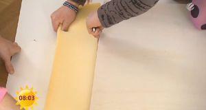 Damit das Brett nicht ebenso steinhart ist wie die Wand, kommt eine Schicht S...