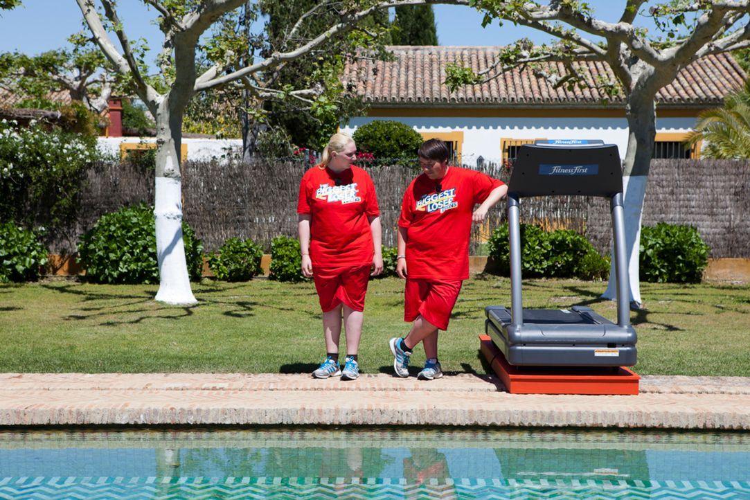 Laura , l. und Patrick, r. zeigen unermüdlich Einsatz - und können so auch die Challenge gewinnen ... - Bildquelle: Enrique Cano SAT.1