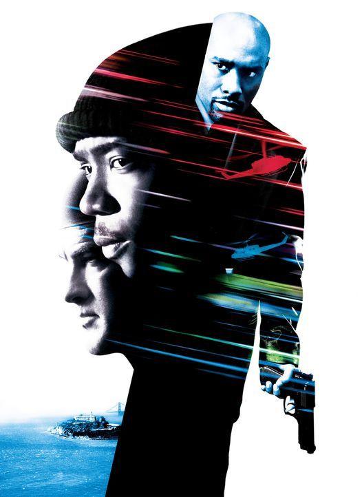 Halb tot mit Steven Seagal (l.), Ja Rule (M.) und Morris Chestnut (r.) - Bildquelle: 2003 Sony Pictures Television International. All Rights Reserved.