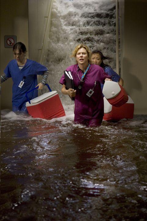 Auch im Krankenhaus schlägt der Tropensturm voll zu. Wasser dringt ein und der Strom fällt aus. Doch Jeanette Makins (JoBeth Williams, M.) weiß sich... - Bildquelle: MMV Paramount Pictures Corporation. All Rights Reserved.