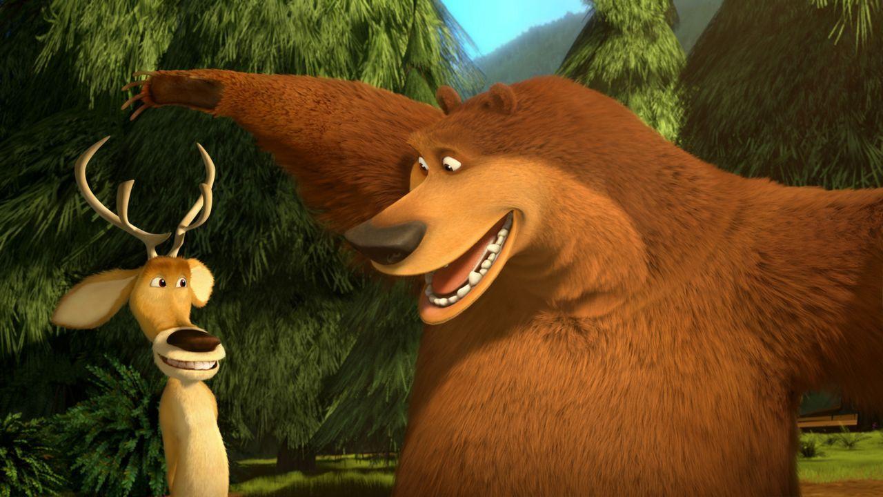Auf gute Freunde kann man nie verzichten: Als Boog (r.) im Zirkus landet machen sich Elliot (l.) und seine Freunde auf den Weg ihn wieder zu befreie... - Bildquelle: 2010 Sony Pictures Animation Inc. All Rights Reserved.