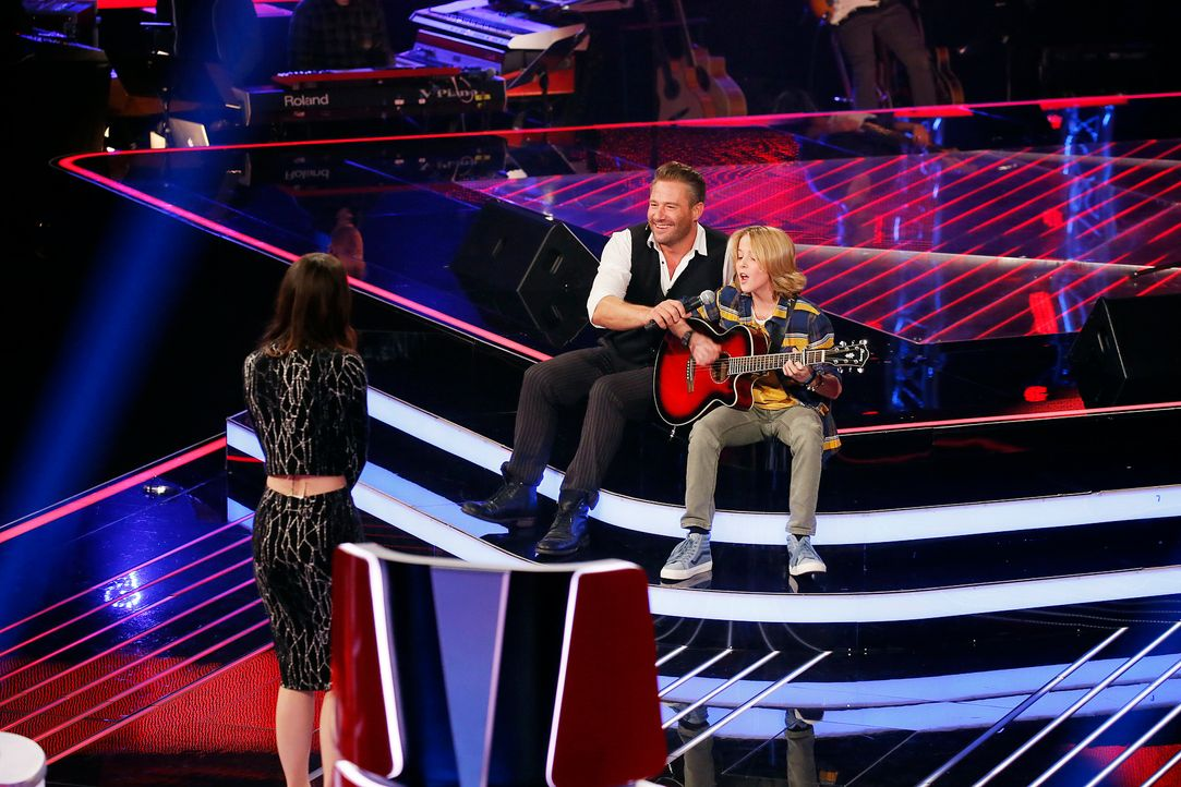 The-Voice-Kids-s04e01-Matteo-Markus-SAT1-Richard-Huebner - Bildquelle: SAT.1/ Richard Huebner